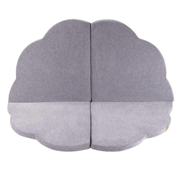 Play Mat For Children - Light Grey Cloud Foam Play Mat - 160x160cm for New Born, Babies, Toddlers, Kids, Bed Room & Nursery. Soft & Child Safe. 160 x 160 x 5cm. On ShopStreet.ie Play Mats Ireland.