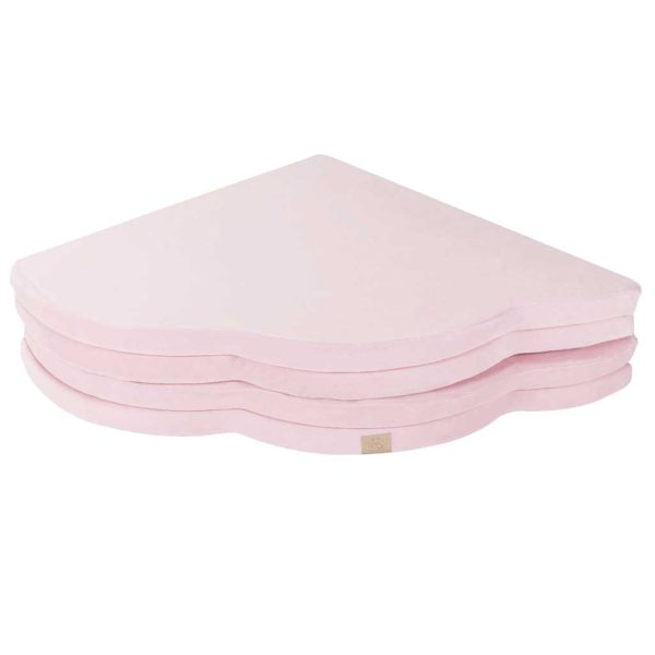 Baby Playmat - Cloud Shaped Foam Playmat In Light Pink for New Born, Babies, Toddlers, Kids, Children, Bed Room & Nursery. Soft & Child Safe. 160 x 160 x 5cm.