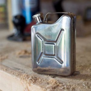 Jerry Can Hip Flask. 5oz Jerrican Hip Flask in Retro Distressed Finish for Sports, Hiking, Motor Sport, Sailing, Camping, Fishing, Outdoors & Car Enthusiasts.