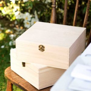 Engravable Wooden Box Personalised with your Engraved Text Message. Ideal Memory Box, Keepsake Box, Photo, Art, Bestman, Gift Box etc - ShopStreet.ie Handmade & Personalised Gifts