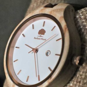 Womans Wood Watch with Free Personalised Engraving. Woman's Ash Watch Handcrafted in Claregalway, Galway, Ireland. Handmade Irish Uaireadóir.