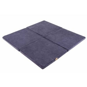 Square Play Mat For Children - Blue-Grey Cloud Foam Play Mat for New Born, Babies, Toddlers, Kids, Bed Room & Nursery. Soft & Child Safe. 120x120x5cm.