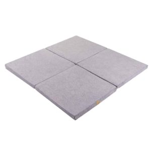 Light Grey Play Mat - Square Foam Playmat For Children, New Born, Babies, Toddlers, Kids, Bed Room & Nursery. Soft & Child Safe. 120x120x5cm.