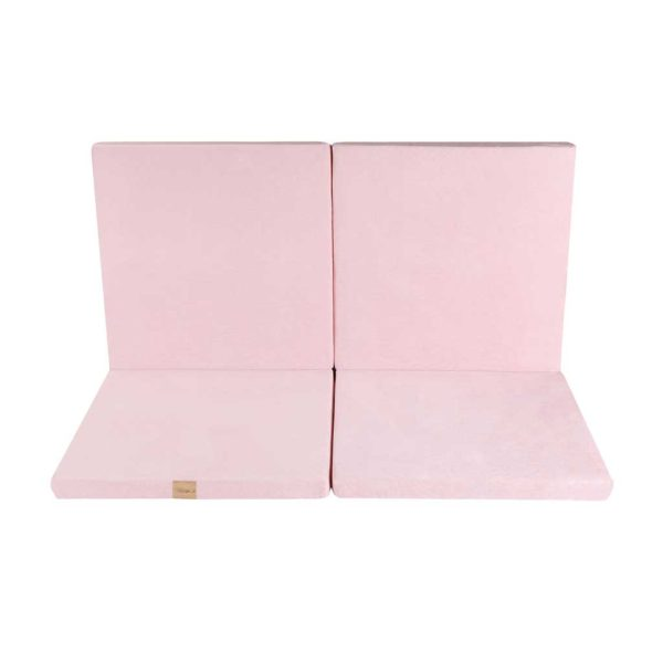 Pink Play Mat - Square Foam Playmat in Light Pink For Children, New Born, Babies, Toddlers, Kids, Play Room & Nursery. Soft & Child Safe. 120x120x5cm.
