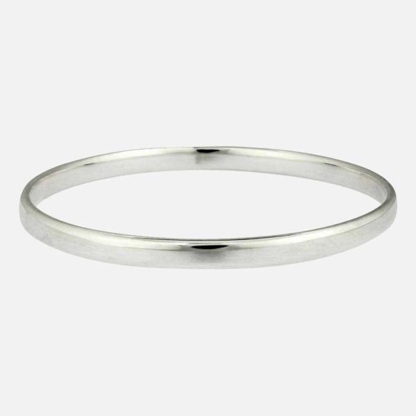 Handmade Personalised Silver Bangle. Woman's Sterling Silver Bangle Engraved with Personalised Engraving on inside. Handmade Gift For Women on ShopStreet.ie Gift Marketplace Ireland
