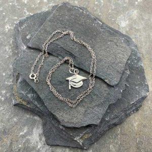 Graduation Silver Pendant Necklace For Graduates, Students, Teachers or Lecturers. Handmade Silver Graduate / Graduation Gift Pendant. Gift Wrapping Available.