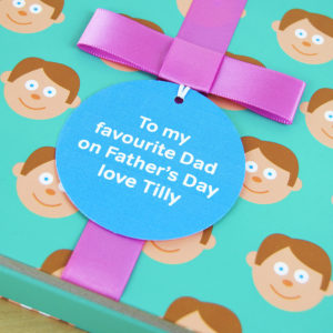 Book for Dad with Socks Gift & Personalised Gift Tag & Card. Father & Child Storytime Book, Socks Gift & Personalised Gift Tag for Birthday, Fathers Day, Christmas...