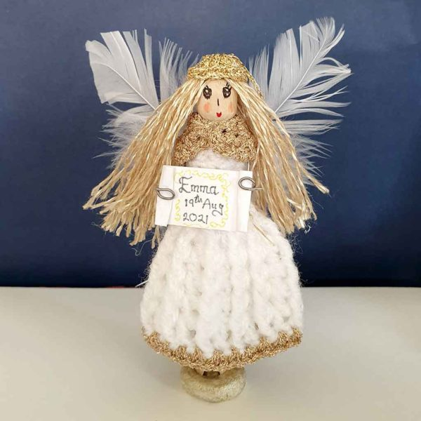 """Christening Gift Personalised Fairy. Design Your Handmade Christening Fairy. Handmade & Gift Wrapped with love in the """"Donegal Fairies"""" Fairy Workshop, Ireland"""