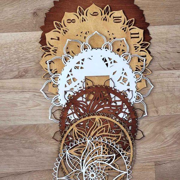 Decorative Layered Handmade Clock Mandala on ShopStreet.ie Handmade & Personalised Gifts Ireland