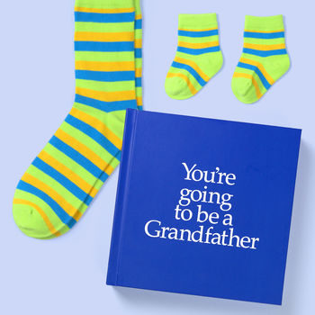 New Grandfather Gift Book & Socks - Perfect Granddad gift to tell your father that they are going to be a Grandfather, with socks gift in back of book. On ShopStreet.ie - hamdmade & Personalised Gifts, ireland
