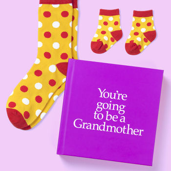 New Grandmother & Baby Gift Book & Socks - Perfect Granny gift to tell your mother that they are going to be a Grandma, with socks gift for Granny & Baby. On ShopStreet.ie - Handmade & Personalised Gifts, Ireland